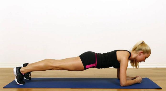 Упражнение планка. Польза и варианты выполнения.